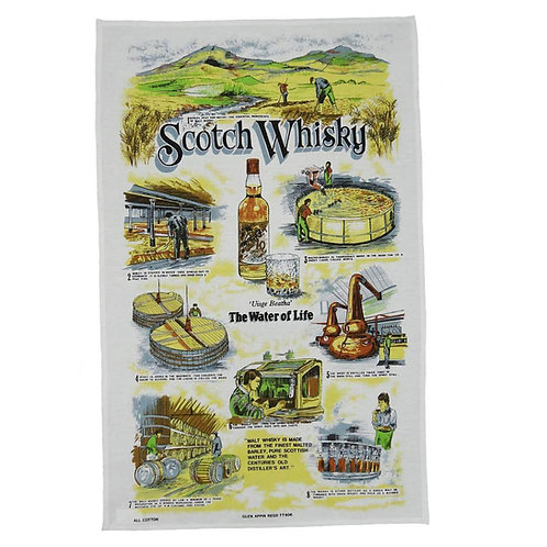 Scotch Whiskey Tea Towel