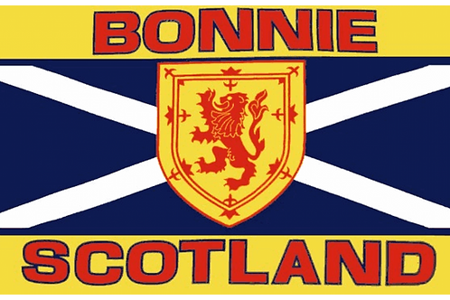 Bonnie Scotland Flag - Size Table, Small and Standard