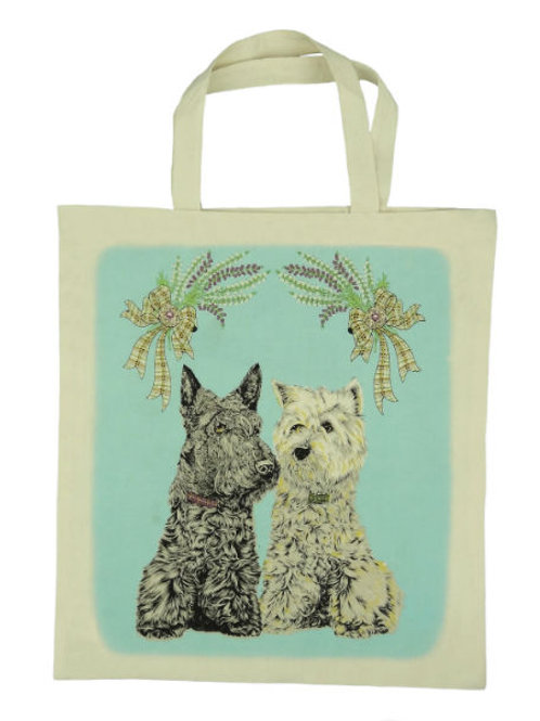Scottish Dogs Cotton Bag