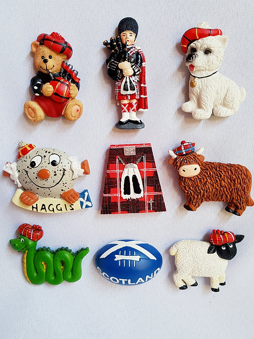Scottish Polyresin Fridge Magnets