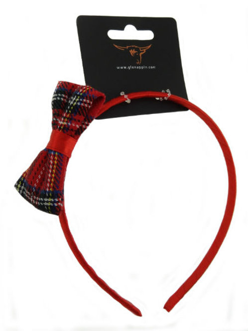 Alice Band with Tartan Bow