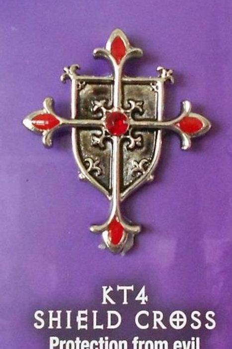 Shield Cross Pendant Chain