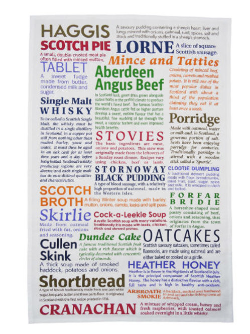 Scottish Delicacies Tea Towel