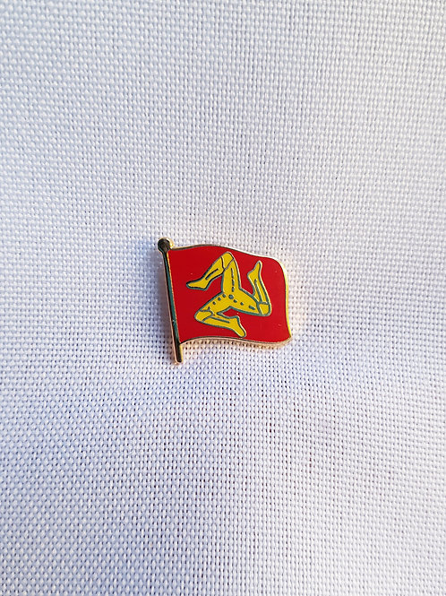 Isle Of Man Flag Lapel Pin Badge