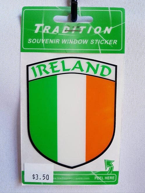 Irish Flag Window Sticker