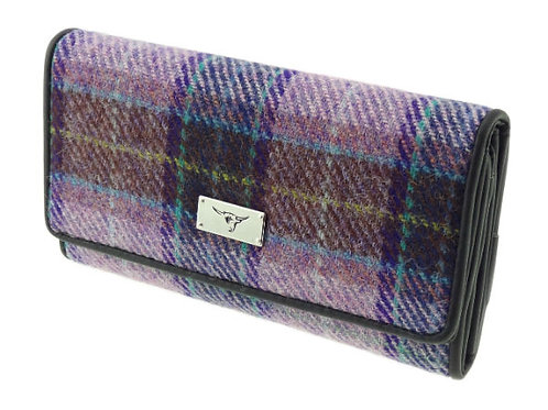 Harris Tweed Tiree Purse Purple