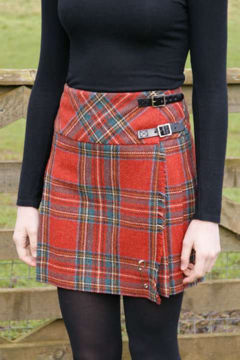 Ladies Isobel Shetland Wool Kilt - Antique Royal Stewart