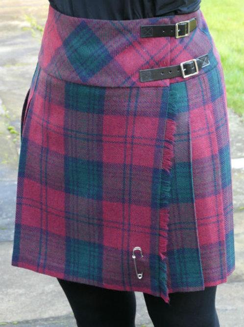 Ladies Isobel Shetland Wool Kilt - Lindsay