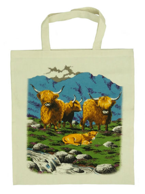 Highland Cattle Cotton Bag
