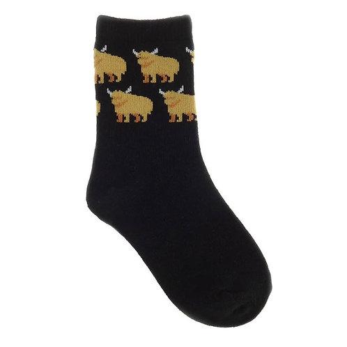 Children's Highland Cow Socks