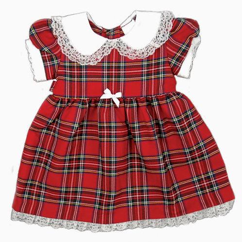 Royal Stewart Tartan Dress with Frill Collar and Petticoat
