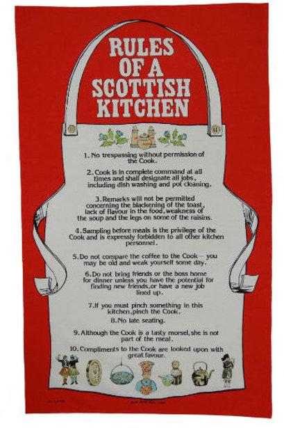 Scottish Kitchen Rules Tea Towel