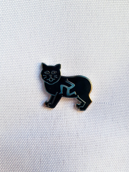 Manx Cat Lapel Pin Badge