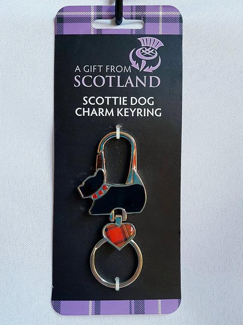 Scottie or Westie Dog Bag Charm Keyring