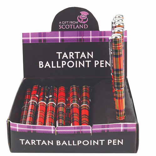 Red Tartan Ball Point Pen