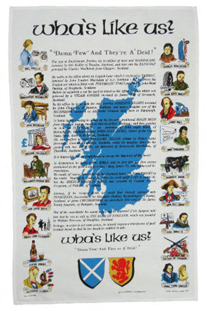 Wha's Like Us Tea Towel