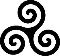 Celitc triskele triple spiral symbol