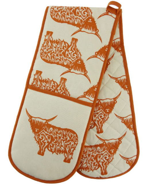 Highland Cow Double Oven Glove