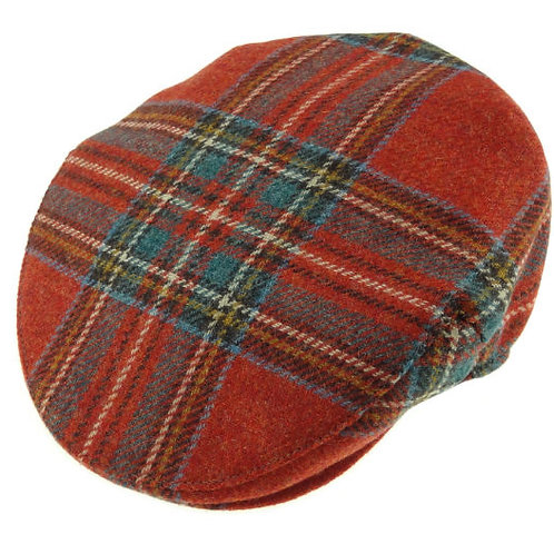 Shetland Wool Tartan Cap Antique Royal Stewart