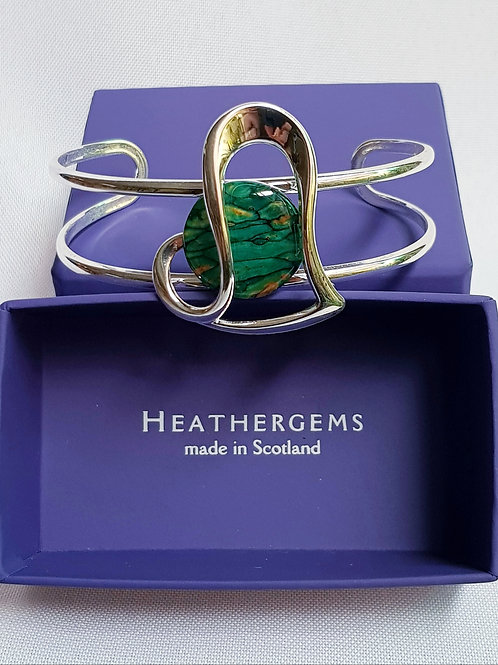 Heathergems Offset Heart Bangle
