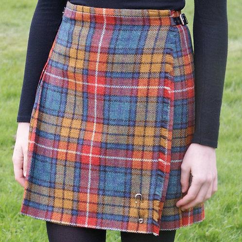 Ladies Flora Shetland Wool Kilt - Antique Buchanan