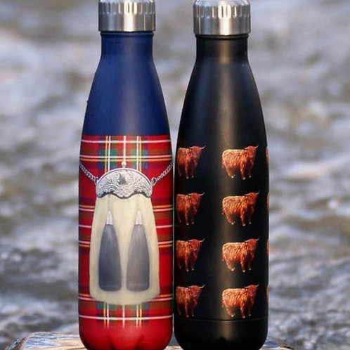 Kilt or Highland Cow Metal Water Bottle
