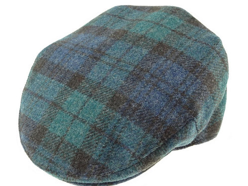Shetland Wool Tartan Cap Antique Black Watch