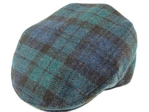 Shetland Wool Tartan Cap Antique Black Watch