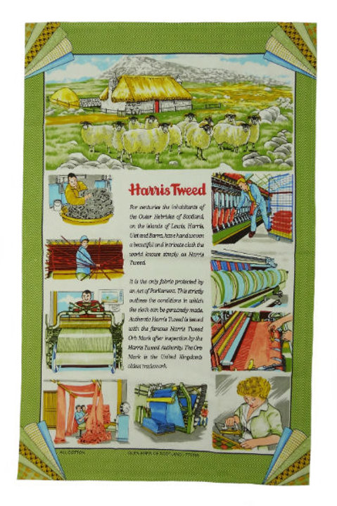 The Story of Harris Tweed Tea Towel