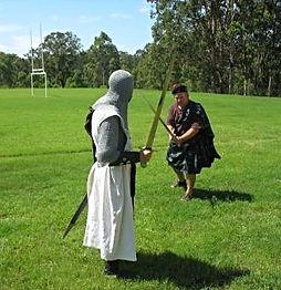 Knights Templar sword fighting highlander