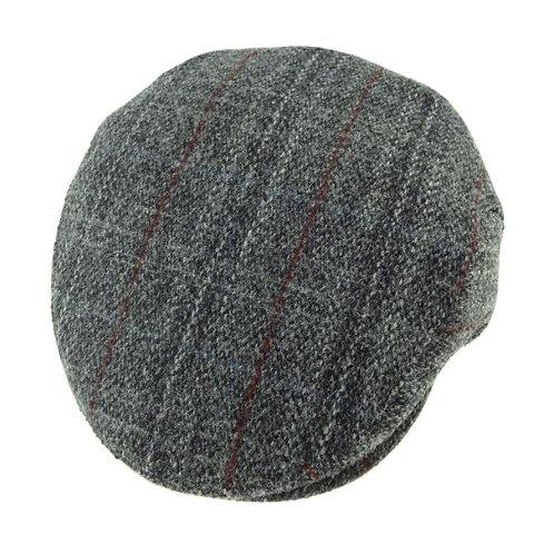 Harris Tweed County Cap Grey Check