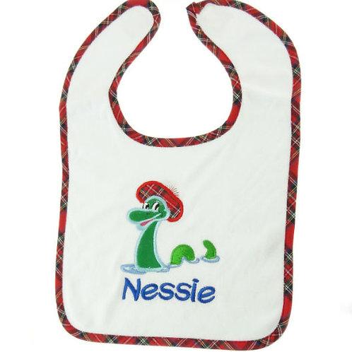 Nessie with Tammy Embroidered Bib