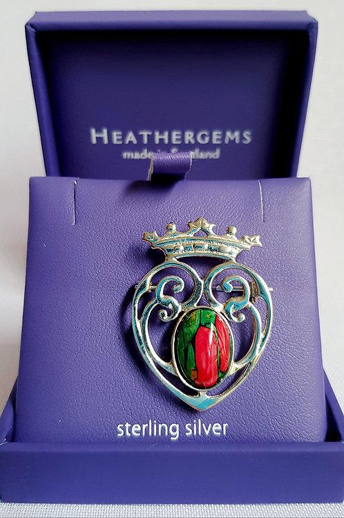 Heathergems Sterling Silver Luckenbooth Brooch