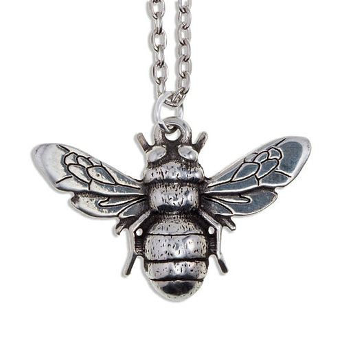 Bee Pendant Pewter