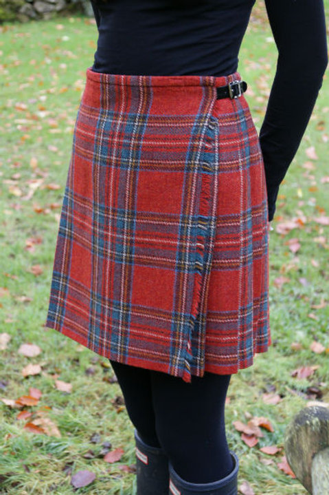 Ladies Flora Shetland Wool Kilt - Antique Royal Stewart