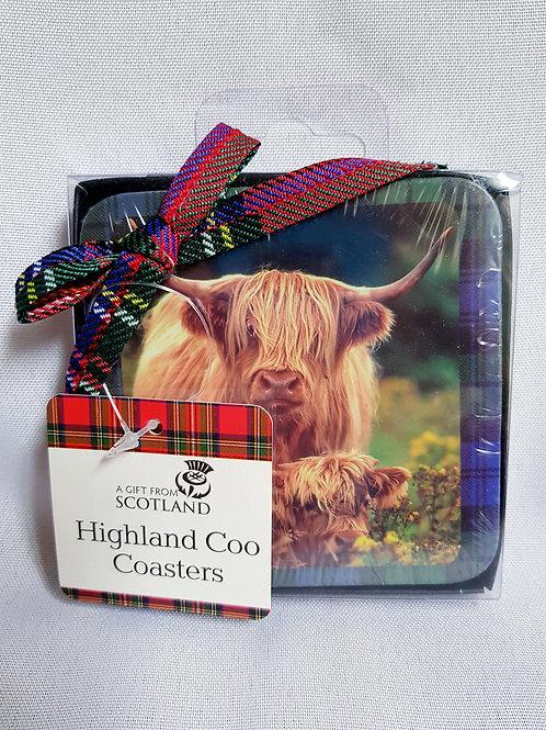 Highland Coo Coasters
