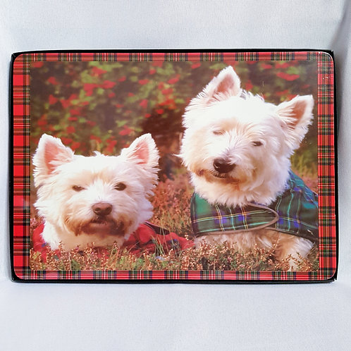 Red Tartan Westies Placemats