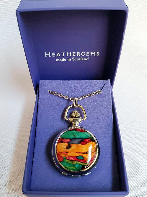 Heathergems Ladies Pendant Watch Necklace
