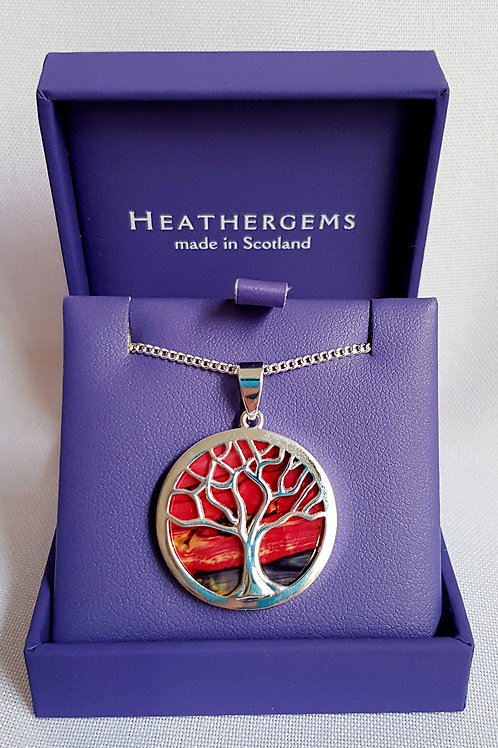 Heathergems Tree Of Life Pendant Necklace