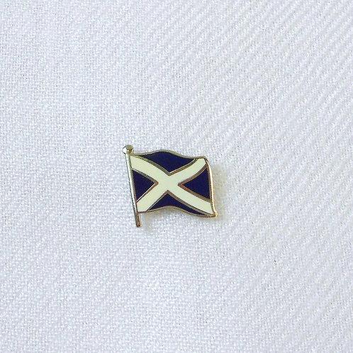 Scottish Saltire Flag Lapel Pin Badge