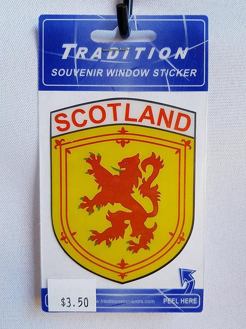 Scotland Lion Rampant Window Sticker