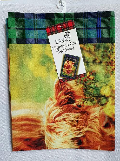 Highland Coo Tea Towel