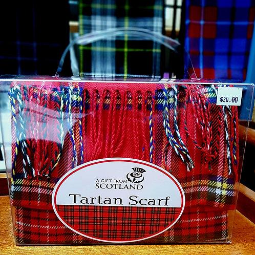 Ladies Red Tartan Scarf