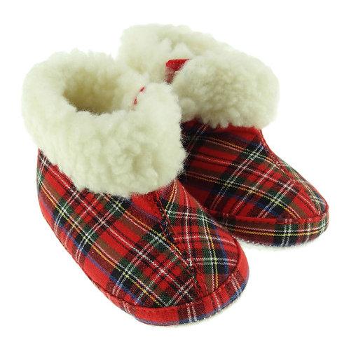 Royal Stewart Tartan Slipper with Fur Trim