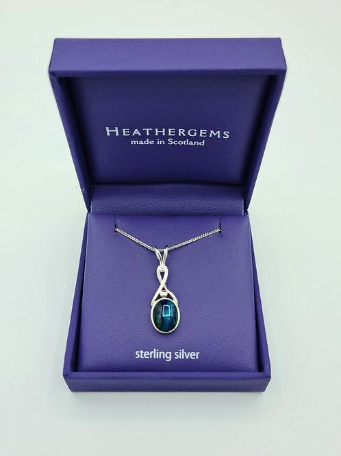Heathergems Oval Twist Sterling Silver Pendant