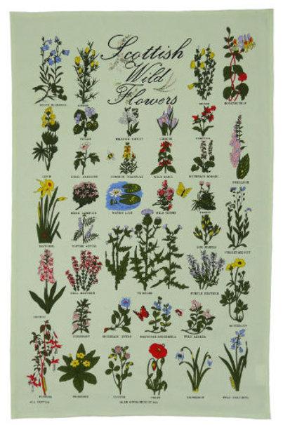 Scottish Wild Flowers Tea Towel