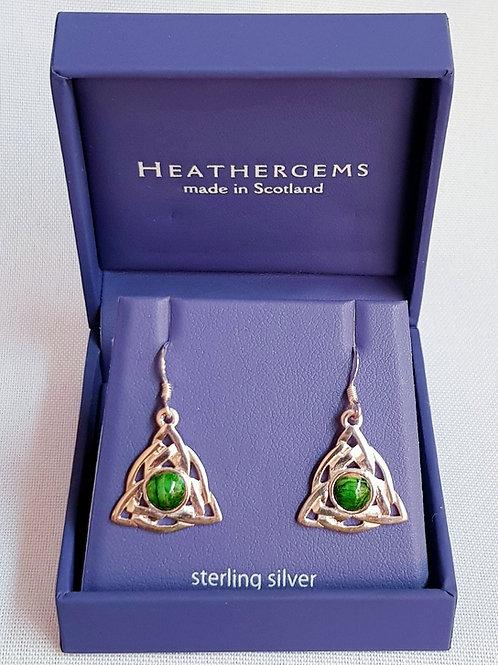 Heathergems Sterling Silver Celtic Earrings