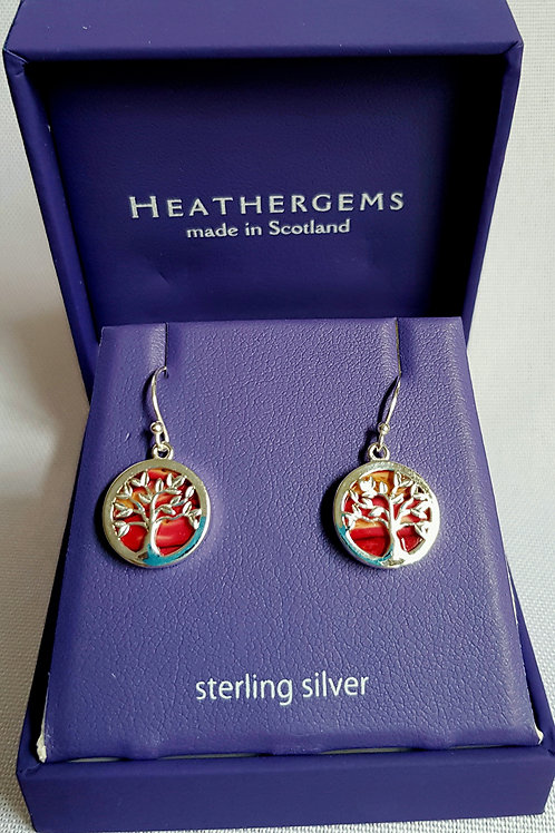 Heathergems Sterling Silver Tree Of Life Earrings