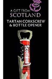 Tartan Corkscrew & Bottle Opener
