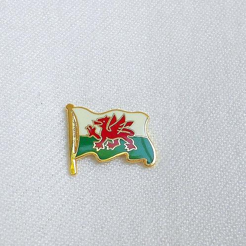 Welsh Flag Lapel Pin Badge
